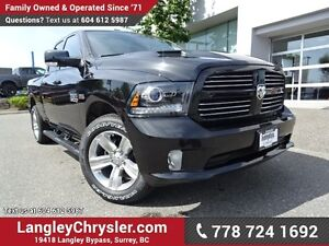 2017 RAM 1500 Sport W/ 4X4, LEATHER/MESH UPHOLSTERY & REAR-VI...