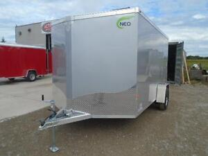 ALL ALUMINUM ENCLOSED 7X12' TRAILER -LIGHT WEIGHT, NO RUST ! London Ontario image 3