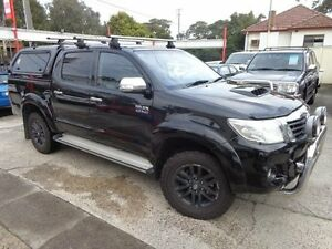2014 Toyota Hilux KUN26R MY14 SR5 (4x4) Black 5 Speed Automatic Dual Cab Pick-up Sylvania Sutherland Area Preview