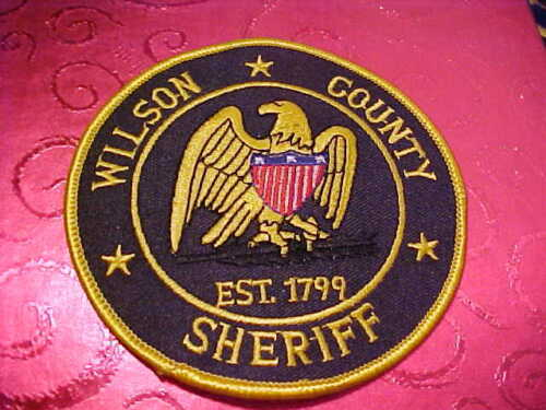 WILSON COUNTY TENNESSEE POLICE PATCH SHOULDER SIZE UNUSED 4 X 4