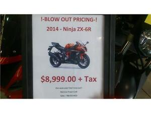 !! BLOW OUT !! NEW 2014 NINJA ZX-6R