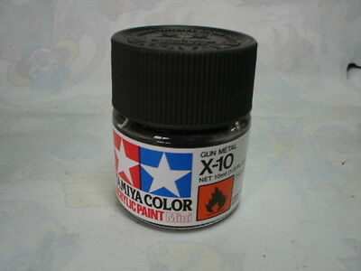 TAMIYA ACRILICO 10 ml X10 GUN METAL
