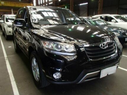 2012 Hyundai Santa Fe CM MY12 SLX CRDi (4x4) Black 6 Speed Automatic Wagon Moorabbin Kingston Area Preview