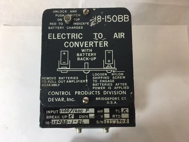DEVAR 18-150BB  CONVERTER ELECTRIC-AIR W/MOORE TRANSMITTER