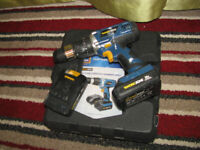 Workzone 20V Li-ion Cordless hammer drill, two batteries, warranty