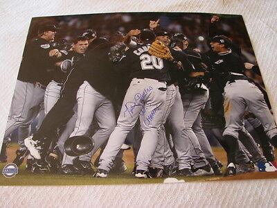 Miguel Cabrera Autograph  Signed 16 x 20 Photo Florida Marlins 2003 World Series 2003 World Series Autographed Photograph