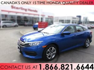 2018 Honda Civic LX | 1 OWNER | NO ACCIDENTS | LOW KM'S