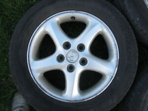 "Four 16"" tires on Mazda3 Rims 205/60R16 Sarnia Sarnia Area image 4"