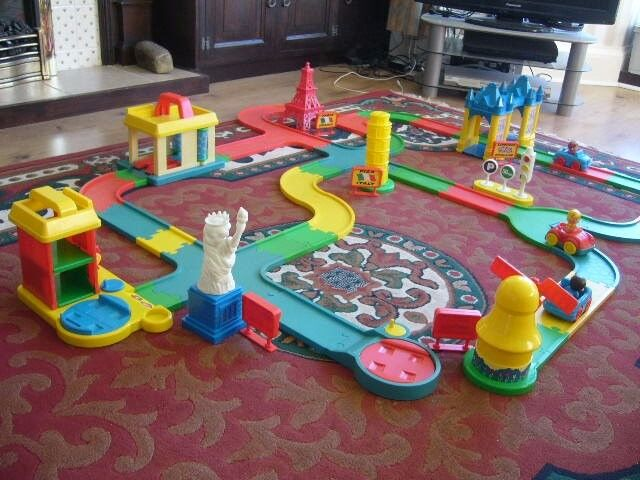 childs large toy slot together road layout with cars / acessories - Southbourne