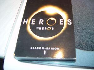 coffret de dvd (4 coffrets de heroes langue francais et anglais
