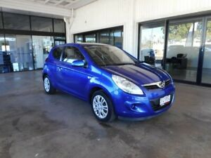 2011 Hyundai i20 PB MY12 Active Blue 5 Speed Manual Hatchback Menzies Mt Isa City Preview
