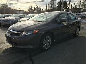 2012 Honda Civic Sdn LX BLUETOOTH,CLEAN, GAS SAVER, WINTER TIRES