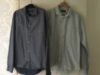 2 Medium Slim Fit Shirts - New Look. Worn Once, Good Condition.