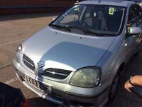 2003 NISSAN ALMERA TINO 1.8 PETROL MANUAL SILVER GOOD DRIVE CHEAP CAR NOT PRIMERA MICRA ZAFIRA