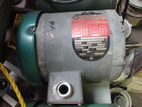 3/4 HP, 1750 RPM, 3 Ph., TEFC, Delta Motor made by Baldor