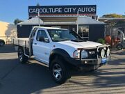 2008 Nissan Navara Series II DX White Manual Cab Chassis Morayfield Caboolture Area Preview