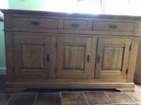 Large Solid Wood Sideboard For Sale.