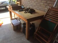 Country Kitchen pine dining table, 8 chairs