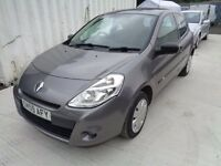 2009 RENAULT CLIO 1149cc 3 DOOR 80,000 MILES GREY NEW SHAPE MOT : 15/08/17 VERY GOOD CONDITION