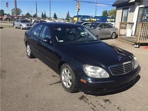 2002 Mercedes-Benz S-Class AUTOMATIC. V/8 MOTOR. NAV A MUST SEE