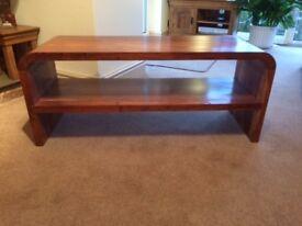 Hardwood Coffee Table 120cm Long x 40cm Deep x 50cm High.