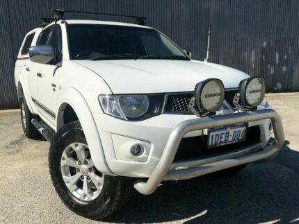 2009 Mitsubishi Triton MN GLX-R White 5 Speed Manual Dual Cab Beckenham Gosnells Area Preview