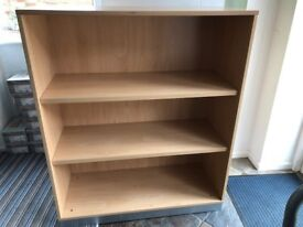 Solid free standing shelving units x 3