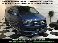2016 16 Volkswagen Transporter Shuttle T6 LWB 150bhp R Edition ~ 6 SPEED MANUAL