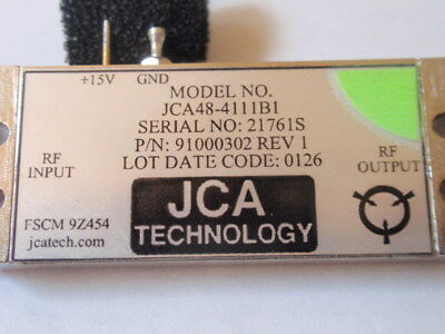 Lot Of 10 New Rf Amplifier 4-8.6ghz 34db Gain C-band Jca48-4111b1 Test Data