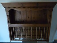 Beautiful wooden wall plate rack, 800mm x 800mm x 200mm, in very good condition.