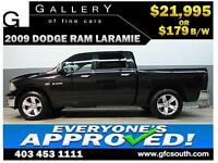 2009 DODGE RAM LARAMIE CREW *EVERYONE APPROVED* $0 DOWN $179/BW