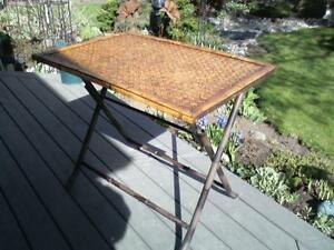 Vintage Fold Up Bamboo & Iron Table.***PRICE DROPPED***