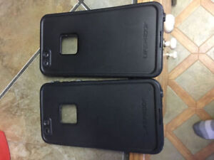 Two Nudd life proof cases for iPhone 6plus/6splus like new.
