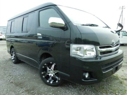2012 Toyota Hiace 4wd Low roof long wheelbase Black Automatic Wagon Burwood Burwood Area Preview