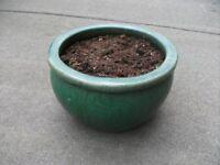 Ceramic Pot . Size : H=18cm , Diameter=30cm ( top )