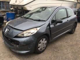 2007 Peugeot 207, starts and drives but has been involved in a crash, damage is unrecorded, being so
