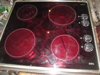 AEG ELECTRIC HOB, VERY CLEAN , AS NOT BEEN USED MUCH.