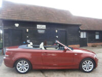 0959 BMW 118 2.0d SE TURBO DIESEL POWER ROOF CONVERTIBLE 1 OWNER 83K FSH SUPERB