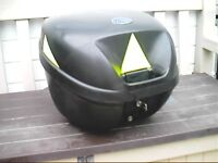 Motorcycle or Scooter Top Box - Lockable & Holds Helmet