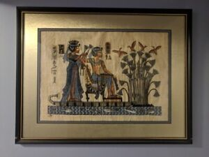 Framed art work painting (Egypt Styled Egyptian Hieroglyphic)