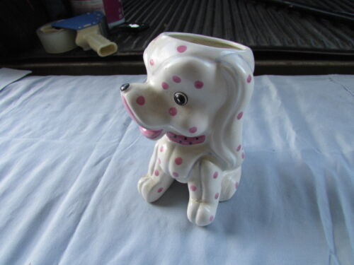 Vintage Napco Japan Dog Ceramic Flower Pot