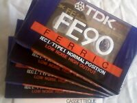 TDK FE C90 CASSETTE TAPES. NEW/SEALED just 1 of dozens of tape offers inc' used blanks/prerecorded.