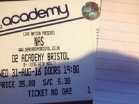 2x tickets for Nas at the o2 Academy in Bristol, UK