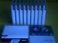 TDK D C60 CASSETTE TAPES x 10 : USED ONCE ONLY THEN STORED
