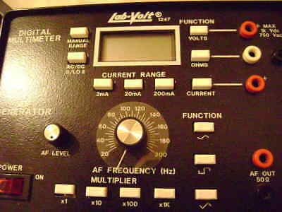 Lab-volt Digital Multi-meter Tester Function Generator Model 1247 Multi-meter