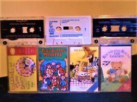 ENID BLYTON, GOLDILOCKS, 5 LITTLE MONKEYS, NURSERY SONGS + + PRERECORDED AUDIO BOOK CASSETTE TAPES