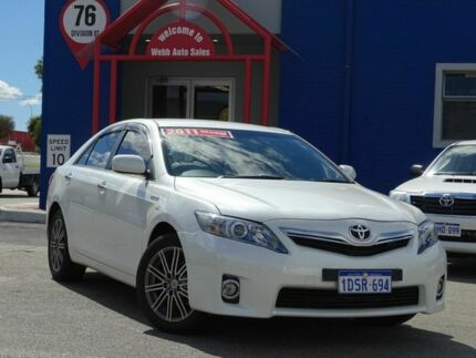 2011 Toyota Camry AHV40R MY10 Hybrid Luxury White 1 Speed Constant Variable Sedan Hybrid