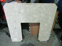 Marble fire surround background