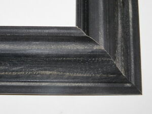 1-8-Black-Weathered-Distressed-Solid-Wood-Picture-Frames-Custom-Standard-Sizes