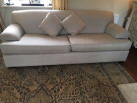 Two large Cream/Oatmeal sofas